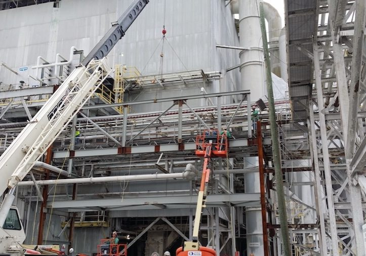 phosphate pipe rack construction project in riverview florida