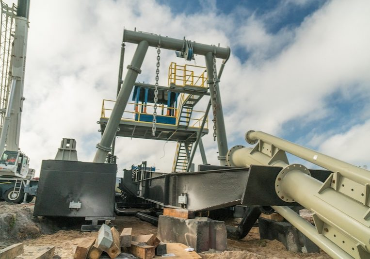 mid-state sand and aggregates dredge fabrication construction project in groveland florida